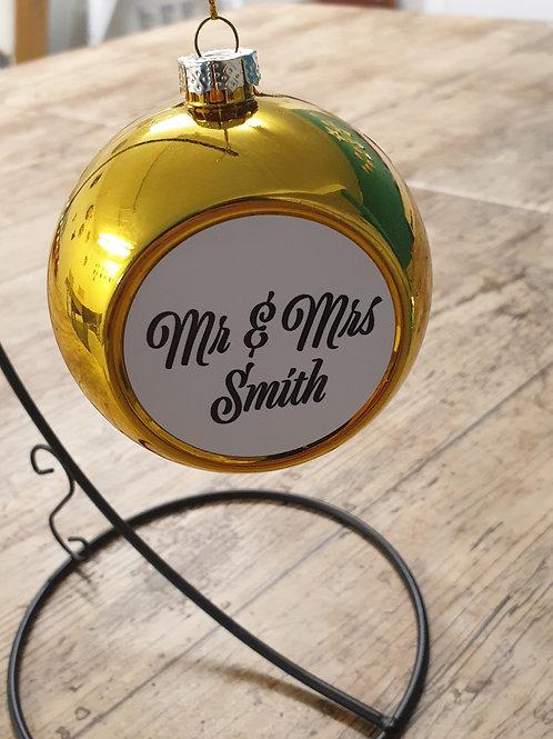 Mr & Mrs Christmas bauble