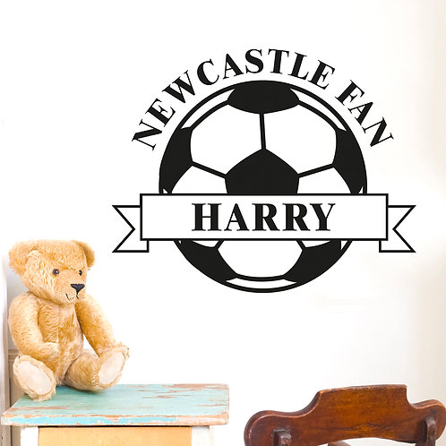 Personalised White Football Wall Art (PMC)