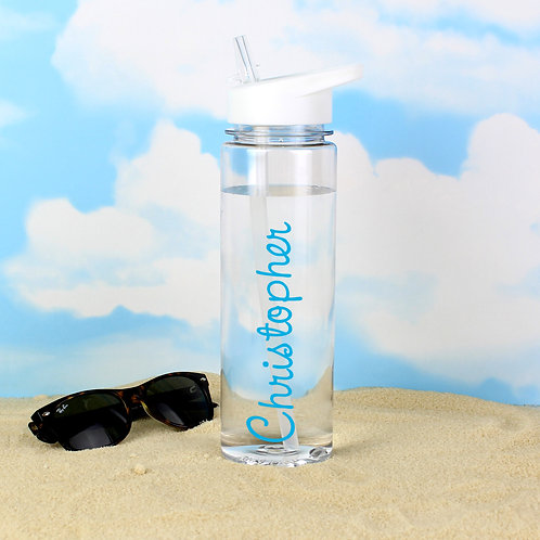 Personalised Blue Name Island Water Bottle (PMC)