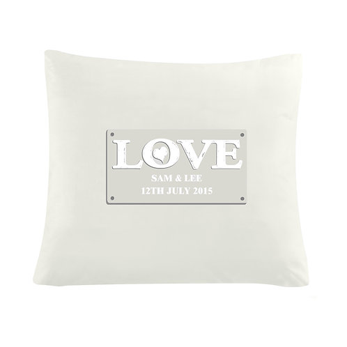 Personalised LOVE Cushion Cover (PMC)