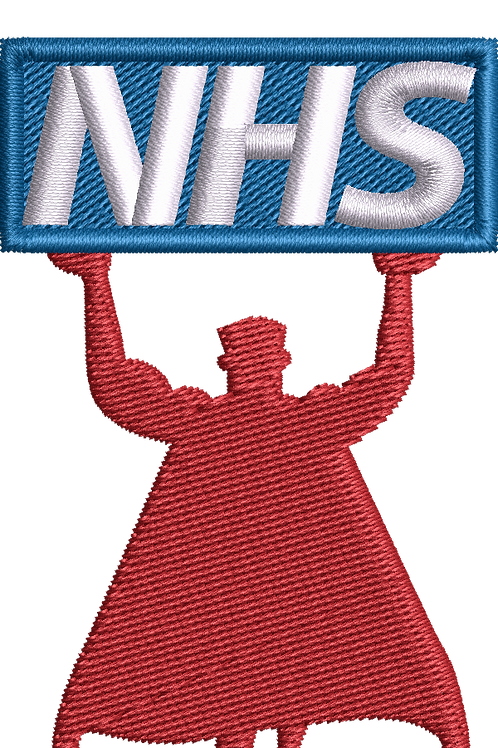 Keyworker female Polo (CLAP FOR NHS WITH SUPERHERO)