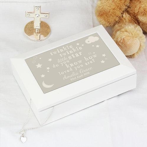 Personalised Twinkle Twinkle Jewellery Box (PMC)