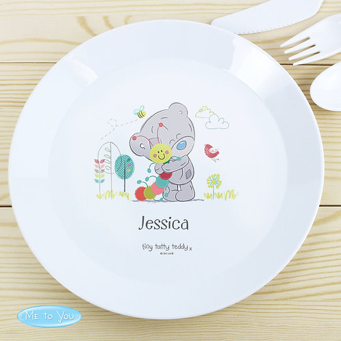 Personalised Tiny Tatty Teddy Cuddle Bug Plastic Plate (PMC)