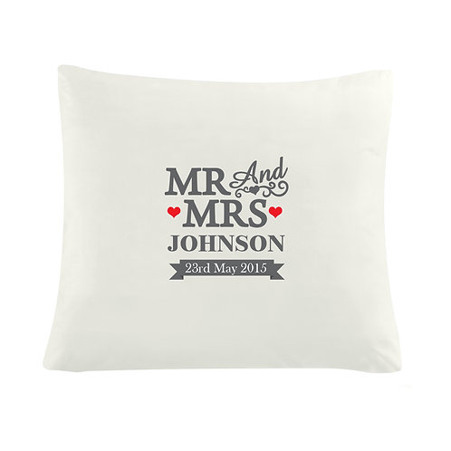 Personalised Mr & Mrs Cushion Cover (PMC)