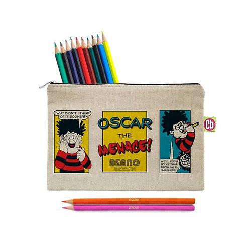 Beano Classic Prob Solve Pencil Case & Pencils