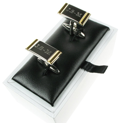 Cufflinks 2 Tone Silver and Gold