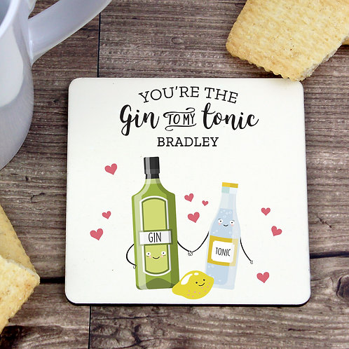 Personalised 'Gin to My Tonic' Coaster (PMC)