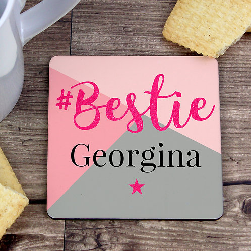 Personalised #Bestie Coaster (PMC)