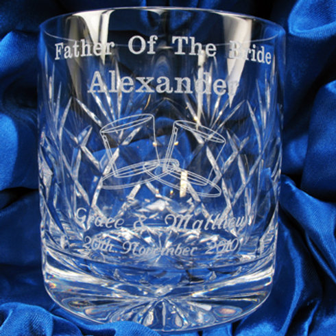 Father of the Bride Whisky Glass