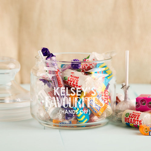 Favourite Sweets Glass Jar