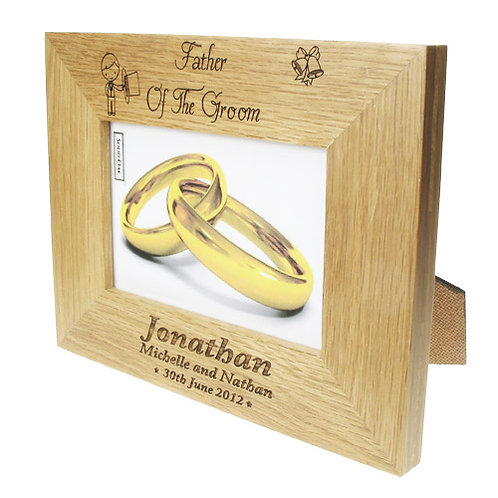 Personalised Father of the Groom Photo Frame