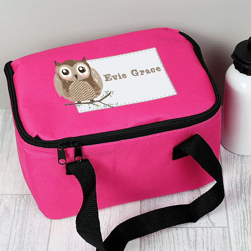 Personalised Woodland Owl Lunch Bag (PMC)