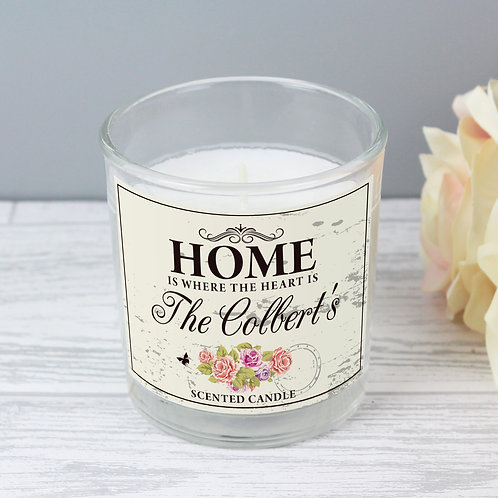 Personalised Shabby Chic Scented Jar Candle (PMC)