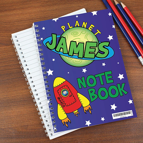 Personalised Space A5 Notebook (PMC)
