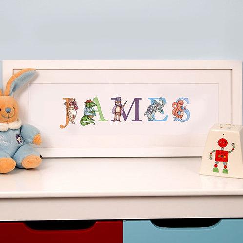 Illustrated Childs Phonetic Name Frame