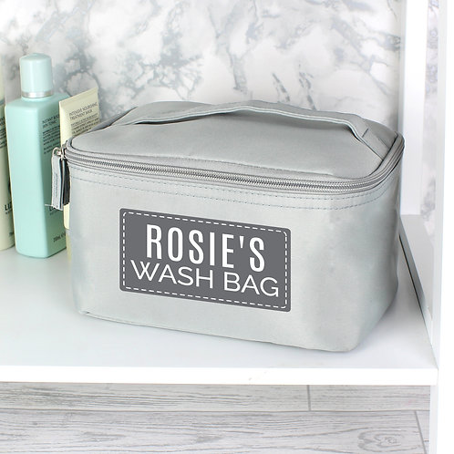 Personalised Classic Grey Vanity Bag (PMC)