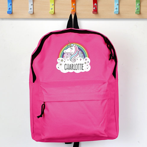 Personalised Unicorn Pink Backpack (PMC)