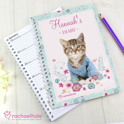 Personalised Rachael Hale Cute Kitten A5 Diary (PMC)
