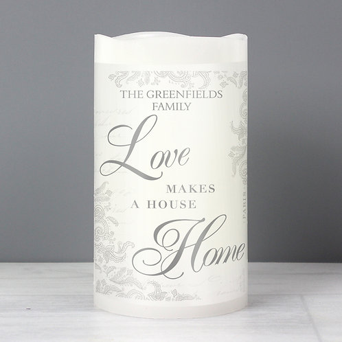 Personalised Love Makes a Home LED Candle (PMC)