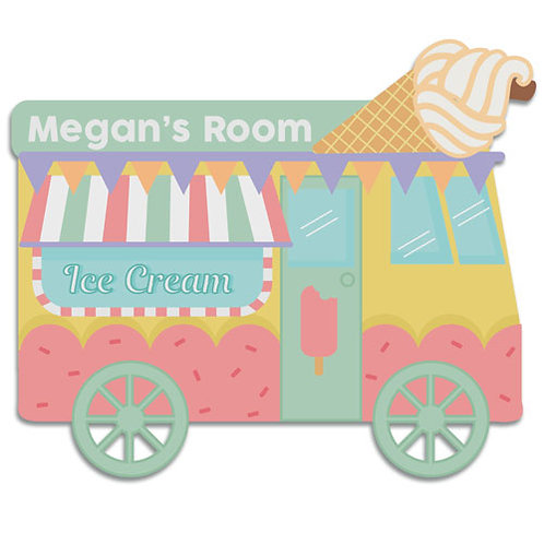 Ice Cream Van Door Plaque (PTG)