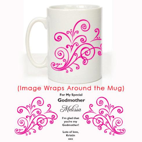 My Special Godmother: Christening Mug