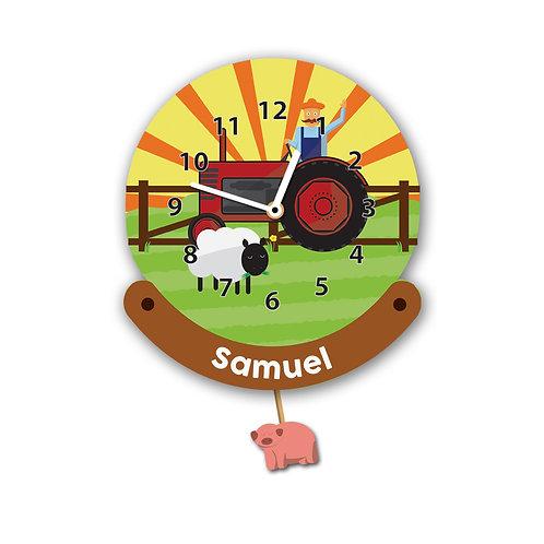 Tractor Pendulum Wall Clock (PTG)
