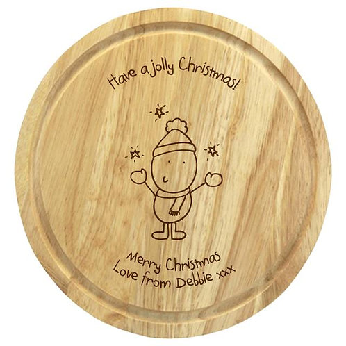 Chilli & Bubbles Jolly Xmas Chopping Board