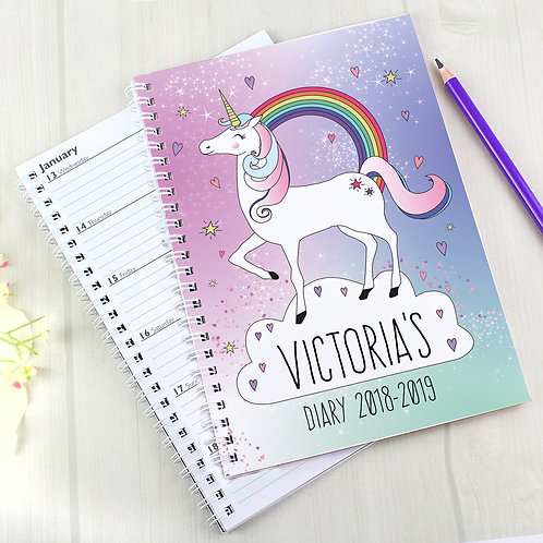 Personalised Unicorn A5 Diary (PMC)