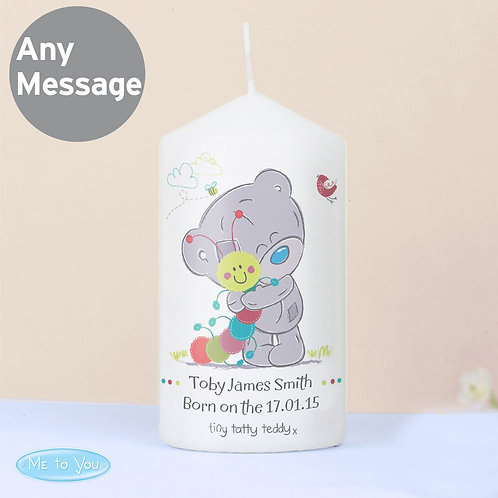 Personalised Tiny Tatty Teddy Cuddle Bug Candle (PMC)