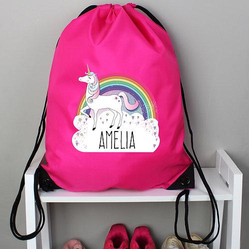 Personalised Unicorn Pink Kit Bag (PMC)