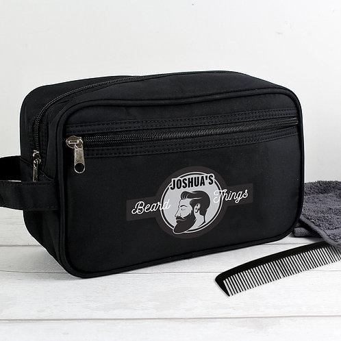 Personalised Beard Things Black Vanity Bag (PMC)