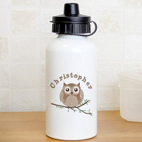Personalised Woodland Owl Drinks Bottle (PMC)