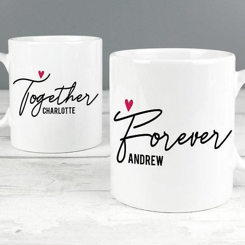 Personalised Together Forever Mug Set (PMC)