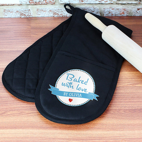 Personalised Baked With Love Oven Glove (PMC)