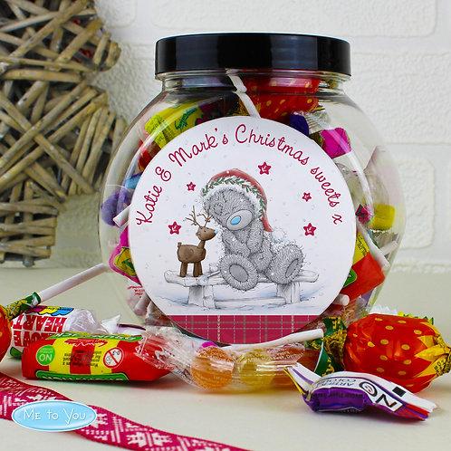 Personalised Me To You Reindeer Sweet Jar (PMC)