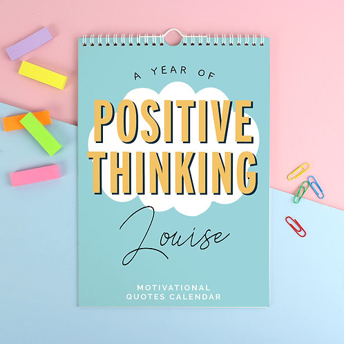 Personalised A4 Motivational Quotes Calendar (PMC)