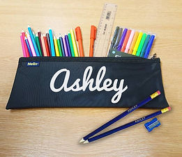 4002454 White Flocked Pencil Case With C