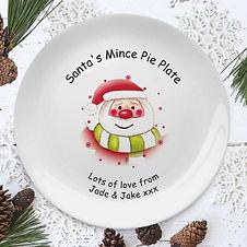 400139 Santa and Stars Mince Pie Plate L