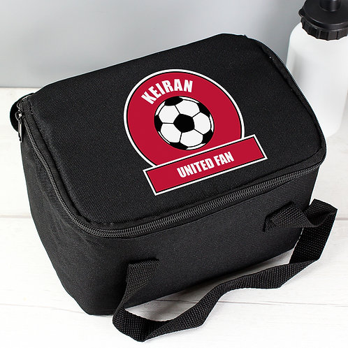 Personalised Red Football Fan Lunch Bag (PMC)