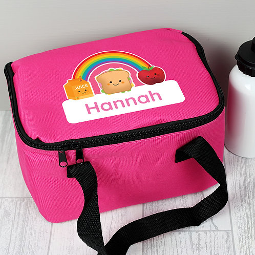 Personalised Healthy Eating Pink Lunch Bag (PMC)