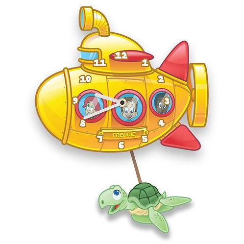 Yellow Submarine Kids Wall Clock (PTG)