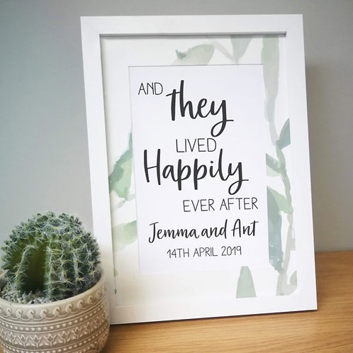 Happily Ever After A4 Framed Print