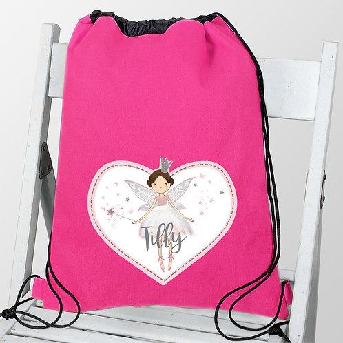 Personalised Fairy Princess Swim & Kit Bag (PMC)