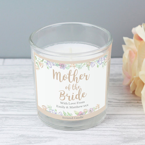 Personalised Mother of the Bride Scented Jar Candle (PMC)