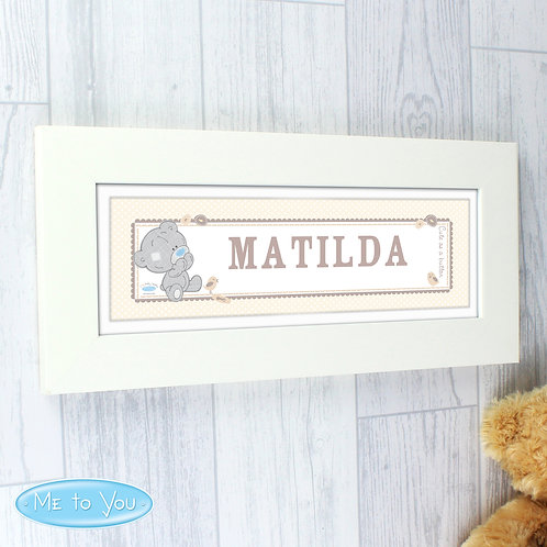 Personalised Tiny Tatty Teddy Name Frame (PMC)