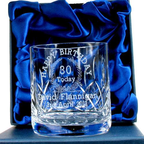 30th Birthday Whisky Glass