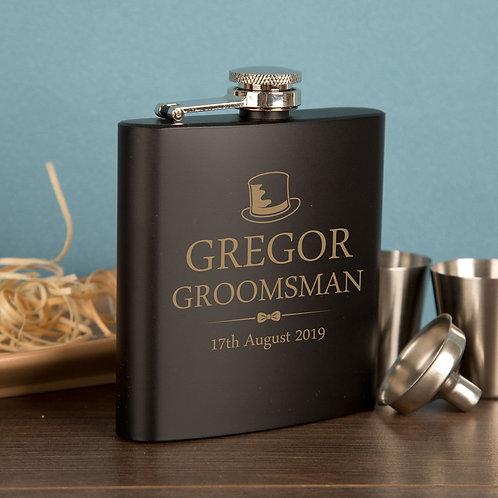 Groomsman Hip Flask Gift Set