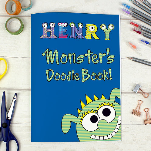 Personalised Little Monster - A4 Scrapbook (PMC)