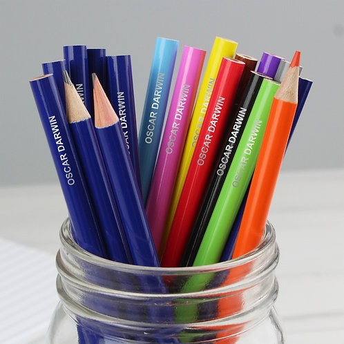 Personalised Pack of 20 HB Pencils & Colouring Pencils (PMC)
