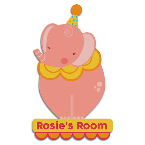 Pink Elephant Door Plaque (PTG)